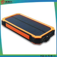 Fast charge Waterproof Silicone Solar Power Bank charger 10000mAh