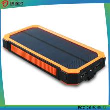Carregador impermeável 10000mAh do banco das energias solares do silicone da carga rápida
