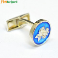 Metal Cufflink With Enamel Soft
