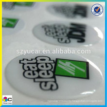 Resin polyurethane dome different color and shape bottle cap epoxy stickers