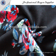 Beautiful woven floral printed satin fabric