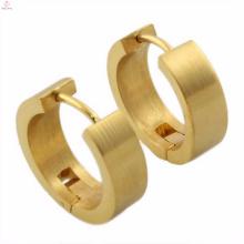 Pendiente de aro redondo de oro del precio barato para los diseños de las mujeres