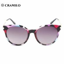 2018 moda claro metal mujer cateye gafas de sol