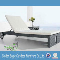 Aluminium+Frame+Wicker+Chaise+Longue