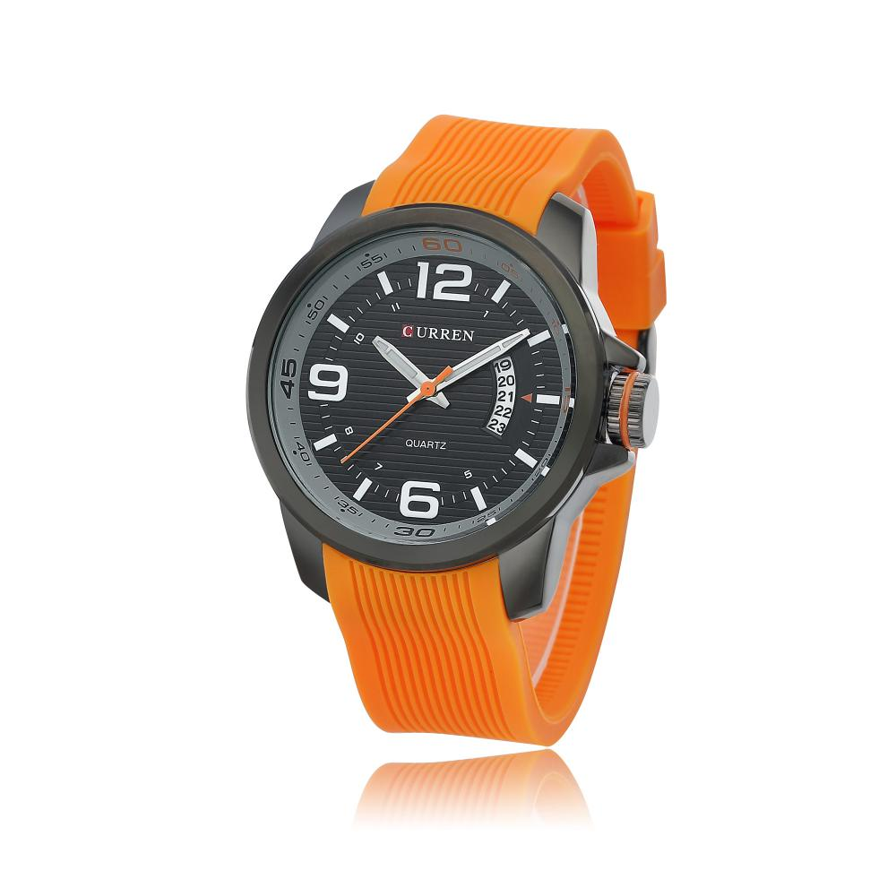 CURREN Water Resistant quartz watch Silicone Wristwatches 2
