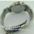 Fashion leather bracelet japan quartz movement watch for man