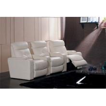 Sofá reclinável elétrico do sofá de couro do couro genuíno (706)