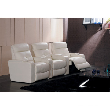 Genuine Leather Chaise Leather Sofa Electric Recliner Sofa (706)