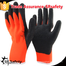 SRSAFETY 7gauge knited liner coated latex on palm gloves, economis style.