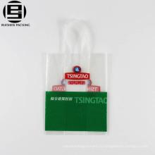 Изготовленный на заказ напечатанная Логосом пластичная хозяйственная сумка с мягкой ручкой петли