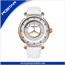 Romantic Style Stainless Steel Ladies Gift Wrist Watch with Swiss Quality