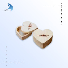 personalized unique heart shape wooden jewelry box
