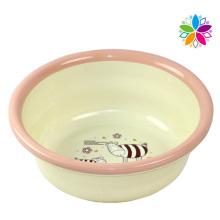 Fashion Cartoon Design Round Plastic Wash Basin (SLP044)
