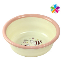 Fashion Cartoon Design Round Plastic Wash Basin (SLP044)