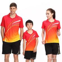 China Fábrica Criança Família Sports Badminton Jersey
