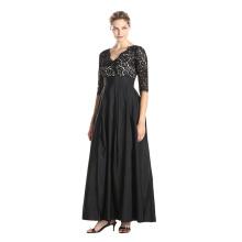 Premium material polyester wide range size women wear black lace women dress