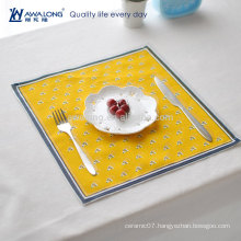 Plain Style Rectangular Pretty Design Cotton And Linen Hot Sale Christmas Mat