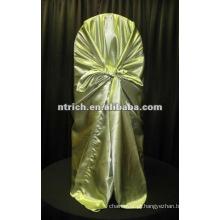 saco capa capa de cadeira auto amarrar saco de cetim para o casamento e o banquete