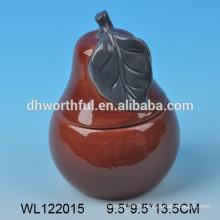 Conditionnement en céramique Hotsale en forme de poire, set de vaisselle