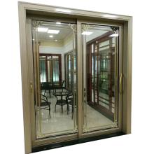 Aluminium frame size customized modern house door design sliding glass door for living room