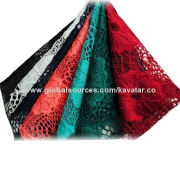 Water Soluble Indian Lace Embroidery Fabric, Any Colors Available