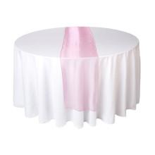 Cor-de-rosa, organza, tabela, corredor