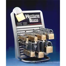 El casquillo de encargo único de la venta al por menor del hardware de la encimera del gancho del metal y el estante promocional dominante
