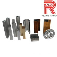 Perfis de extrusão de alumínio / alumínio para materiais de construção B & Q