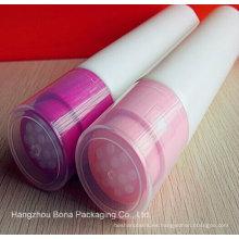 Nuevo tubo de plástico para aceite de masaje con aplicador de vaciado