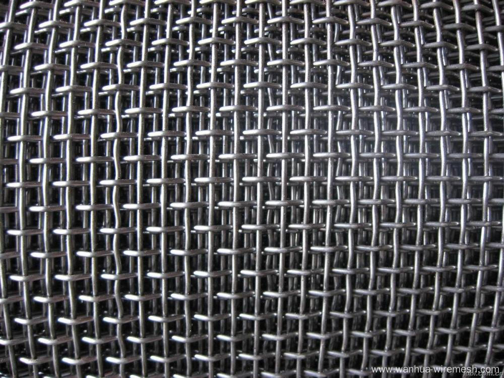 Flat Top Crimped Weave Crimped Wire Mesh