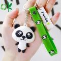 Customizd 3D Panda Silicone Soft PVC Metal Keychain