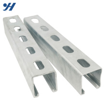 Rolled Steel perforated metal building steel c channel, gi c channel weight, slotted channel
