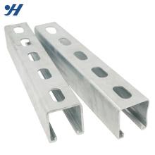 Aço laminado de aço perfurado c canal de aço para construção, peso do canal gi c, canal com fenda
