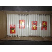 Bougie blanche de ménage de cire de paraffine sans fumée de 28g à Africe occidental