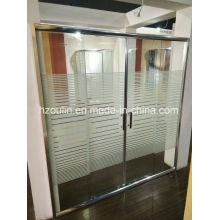Porte de douche avec ligne de verre