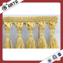 Hermoso borla recorte de encaje bordes frágil de corte borla para cortina