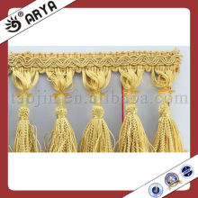 Beautiful Tassel Trimming Lace Beaded Tassel Trim Fringe For Curtain