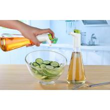 Distribuidor / pulverizador de óleo e vinagre de medição de garrafa de vidro 310ml