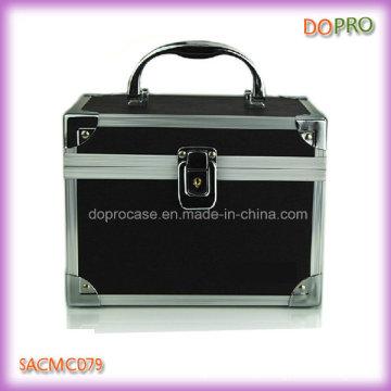 Cute cosméticos organizador caixa caixas de maquiagem PVC preto (sasc079)