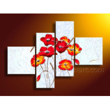 Modern Floral Art Oil Painting on Canvas (FL4-120)