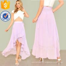 Knoten Seite Asymmetrische Rüschen Wrap Rock Herstellung Großhandel Mode Frauen Bekleidung (TA3080S)