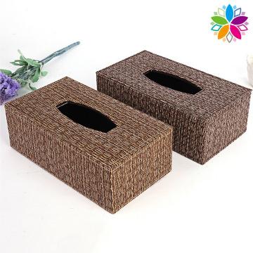 Caixa de tecido de couro de design novo (ZJH063)