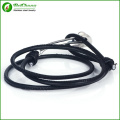 Cool mens stainless steel anchor bracelet with black rope anchor bracelets