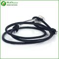 Legal mens aço inoxidável pulseira de âncora com pulseiras de âncora corda preta