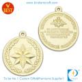 Medallas personales del recuerdo del galjanoplastia del oro 3D del diseño con el sello de la aleación del cinc