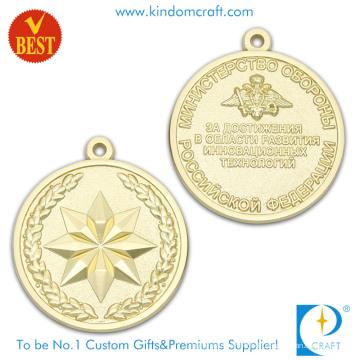 Persönliches Design 3D Gold Plating Souvenir Medaillen mit Zink-Legierung Stempel