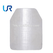 Plaque de blindage à l'épreuve des balles en polyéthylène militaire (UHMW-PE) pour veste balistique NIJ III / IV