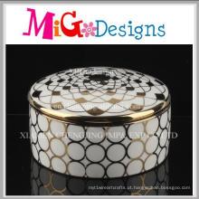 Alta qualidade por atacado de cerâmica caixa de jóias de luxo