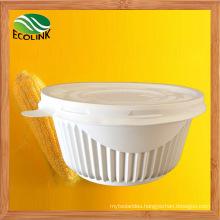 650ml Disposable Crockery Cornstarch Bowl