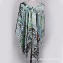Digital Printed Silk Shawl (13-BR110303-3)